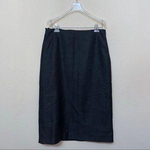 Jil Sander Grey Wool Cashmere Pencil Skirt Sz 40